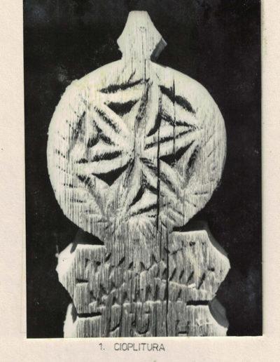 """Biserica de lemn """"Sfinții Arhangheli"""" din Vima Mică - arhiva MJIA - cioplitura"""