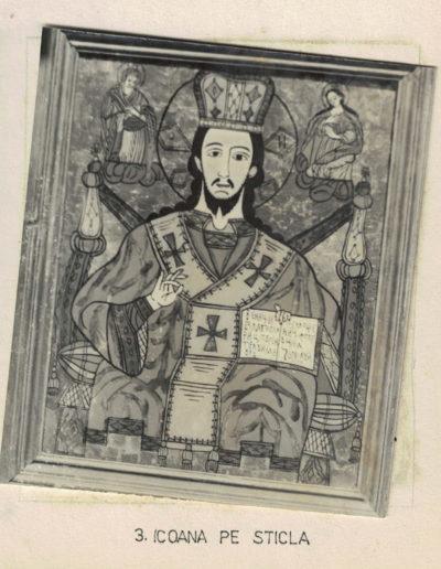 """Biserica de lemn """"Sfinții Arhangheli"""" din Vima Mică - arhiva MJIA - icoana"""