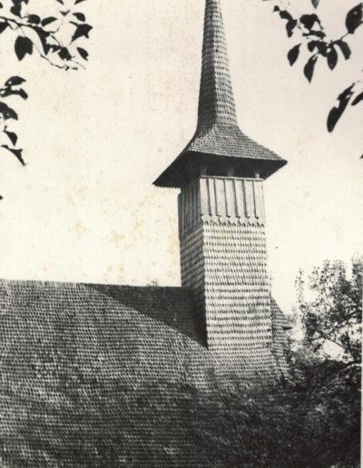 """Biserica de lemn """"Sfinții Arhangheli"""" din Vima Mică - arhiva MJIA"""