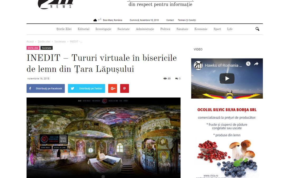 INEDIT – Tururi virtuale în bisericile de lemn din Ţara Lăpuşului (www.2mnews.ro)
