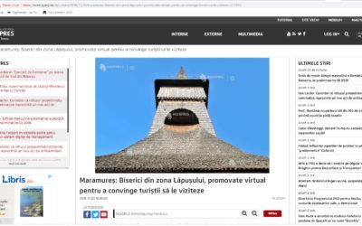 Biserici din zona Lăpuşului, promovate virtual pentru a convinge turiştii să le viziteze (AGERPRES)