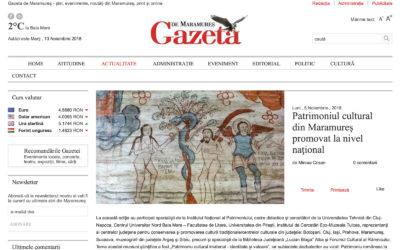 Patrimoniul cultural din Maramureş promovat la nivel naţional (Gazeta de Maramureş)