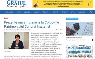 Patrimoniul cultural din Lăpuş şi Maramureş prezentat la Botoşani (Graiul Maramureşului)